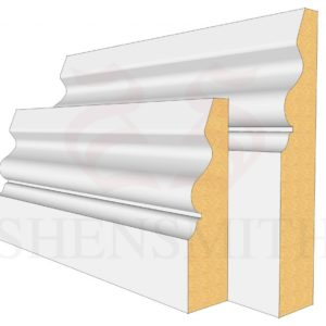 Ogee 4 mdf skirting boards